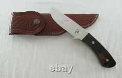 Vintage Case Pawnee R603 SSP Fixed Blade Hunting Knife with Brown Leather Sheath