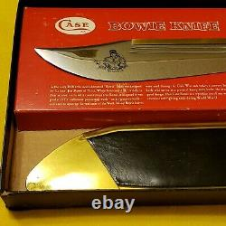Vintage Case XX 1836 Bowie Knife, Leather/Brass Scabbard in Original Box