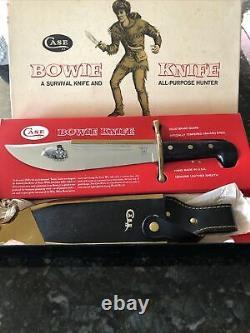 Vintage Case XX Bowie Survival Knife 1836 + Leather /Brass Scabbard & Box