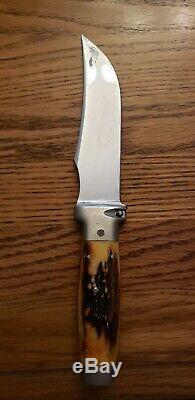 Vintage Case XX Stag Hunting Knife and Hatchet Combo with Leather Sheath