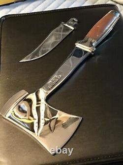Vintage Case xx Tested hatchet / knife Combo set in original leather sheath