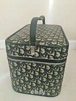 Vintage Christian Dior Luggage Travel Train Case # 601 Original Box with Mirror