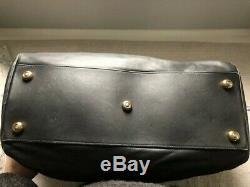 Vintage Coach Leather Black overnight travel case duffel bag EUC! No18B-0599