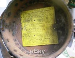Vintage Detex Watchclock Corporation Guardsman Clock with Original Leather Case