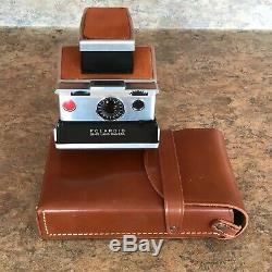 Vintage Early 1970s Polaroid SX-70 Land Camera withOriginal Leather Case