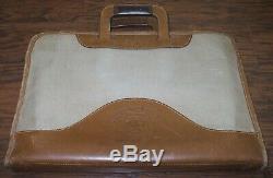 Vintage GHURKA Original Marley Hodgson Canvas & Leather No. 24 Attache Case