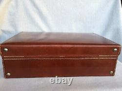 Vintage Gents Fitted Leather Grooming Vanity Travel Case & Accessories