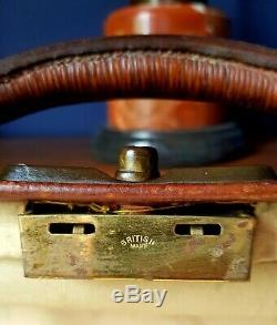 Vintage Gladstone Leather case / Doctors bag Circa 1920. Large. Double strap