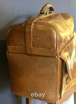 Vintage Gladstone / doctors Leather case bag Circa 1920 No Monogram English made