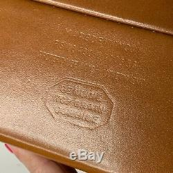 Vintage Government Issue Briefcase Mid Century Attache Case Brown Leather