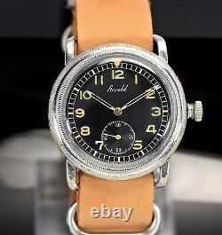 Vintage HAROLD Jumbo As 1130, Flieger, snap 41mm case, 40's pilot military watch