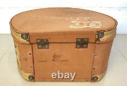 Vintage Hat Box Travel Case #2002