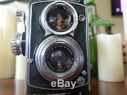 Vintage KALLOFLEX RARE Camera 75mm In Original Leather Case NEAR MINT CONTITION