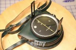 Vintage Keuffel & Esser K & E Surveyor Compass w Original Green Leather Case