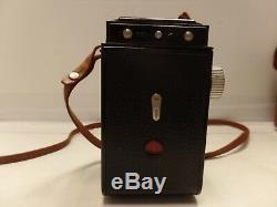 Vintage Kodak Reflex II with leather case all original CAMERA