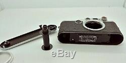 Vintage LEICA Leitz IIf Rangefinder Camera Body with original Leather Case