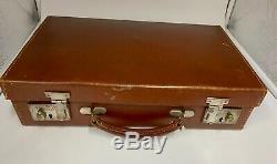 Vintage Leather Attache Brief Case circa 1940s