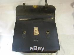 Vintage Leather South Wales Police Briefcase Case/ Satchel
