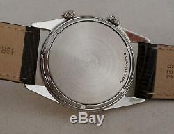 Vintage Lecoultre Memovox Alarm Manual-wind Ss Case Original Dial Crowns 1960's