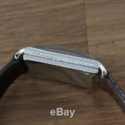 Vintage Longines Large Number Dial Original Watch Engraved Case Running