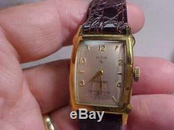 Vintage Mans Elgin Rectangular Case Watch Shockmaster In Original Box 17j Nice C