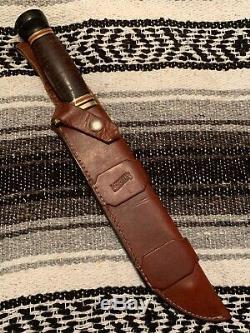 Vintage Marbles USA Trailmaker LTD R. W. Loveless/W. L. Marbles Bowie knife WithCase