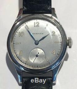 Vintage Military LONGINES Gents Wrist Watch S/S Case Original Cond. Ca1940 (WW2)