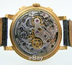 Vintage Movado Chronograph cal M90 Ref. R 9023 18k. Solid gold case original dial