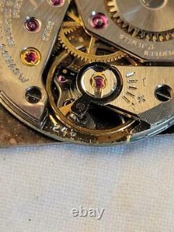 Vintage Movado Solid 18k Mechanical Watch Checkered Case Original Run Mens 17j
