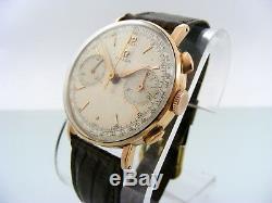 Vintage Omega 33.3 Chronograph 18k. Solid gold custom case original dial