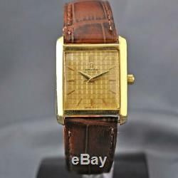 Vintage Original Omega Ref 3999 Automatic 571 Solid 18k Gold Square Case & Dial