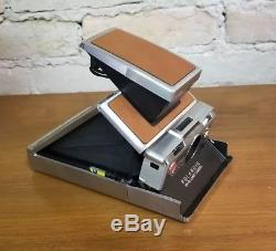 Vintage Polaroid SX-70 Land Camera Brown Leather with Original Case