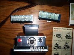 Vintage Polaroid SX -70 Land Camera Instant + Original Leather Case w Paperwork