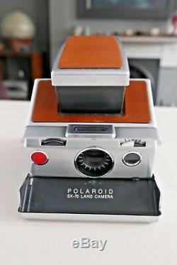 Vintage Polaroid SX-70 Land Camera in Original Leather Case