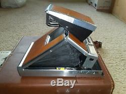 Vintage Polaroid Sx-70 With Original Leather Case And Extras Tested