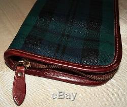 Vintage Polo Ralph Lauren Blackwatch Tartan Plaid Tie Travel Organizer Case