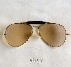 Vintage RAY BAN AVIATOR 62 mm B&L leather sunglasses with original case USA