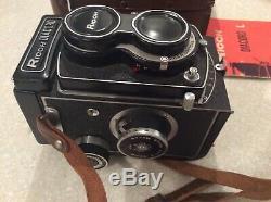 Vintage Ricoh Diacord L Camera Riven Optical Original Box Leather Case & Manual