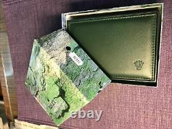 Vintage Rolex 90s-68.00.08 Green leather 16610 Submariner box / case. Original