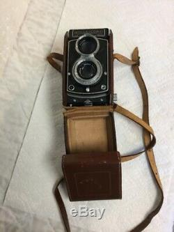 Vintage Rollei Rolleicord TLR Camera Xenar Lens With Fine Original Leather Case