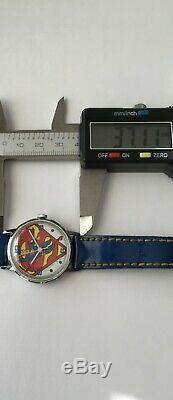 Vintage Superman Watch 1976 DC COMICS Inc. Timex France Case Original RARE