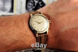 Vintage Swiss Movado 6211 S. Steel & Gold Cap 34.5mm Borgel Case Original Cond