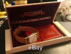 Vintage Swiss Wittnauer Men's Watch. NOS Condition With Original Retail Case