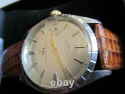 Vintage Tudor Prince Oyster Date Self-winding Original Case By Rolex, Swiss, 1962