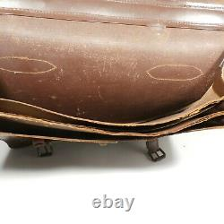 Vintage U. S. Military WWII Special Lawyer Type 2 Leather Attache Briefcase Case