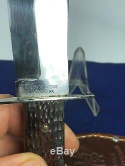 Vintage W. R. CASE & SONS Fixed Blade Hunting Knife With Leather Sheath-TESTED XX