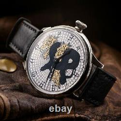 Vintage Watch Omega Original Swiss Mechanism 1937 and Pocket Case New Dial Snake