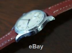 Vintage mens Eterna military bumperwind steel case screw back all original rare
