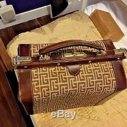 Vtg Antique Pierre Balmain Signature Train Travel beauty Case Luggage Valise Bag