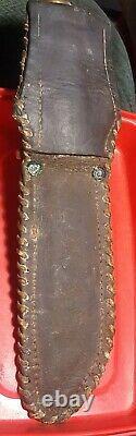 Vtg Case XX Kodiak Hunter Knife Hand Made USA w custom leather sheath handmade